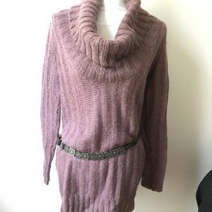 Ann Taylor cowl neck oversize sweater mauve purple